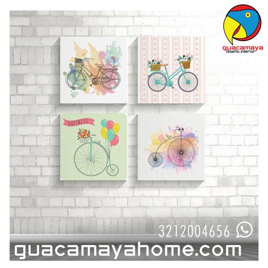 CUADROS BICICLETA VINTAGE - Guacamaya Vinilos Decorativos