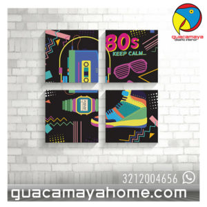 Cuadros decoracion 80 pop