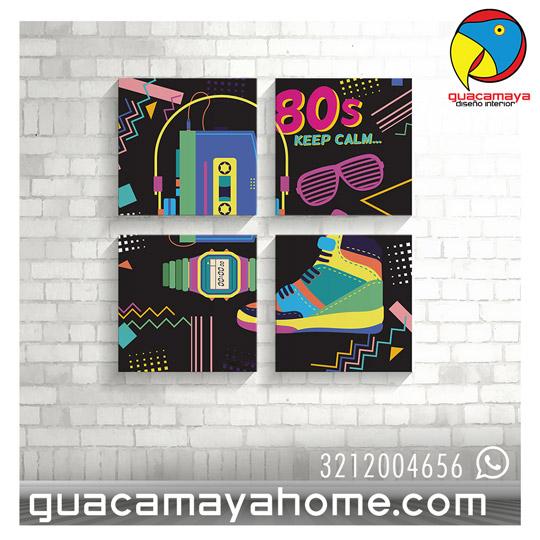 Cuadros decoracion 80 pop