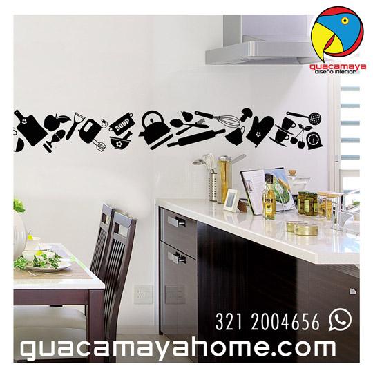 Cenefas vinilo cocina cocinas en vinilo rojo blanco with for Cenefas adhesivas cocina ikea