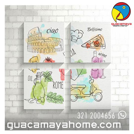Cuadros decorativos Cucina Italiana