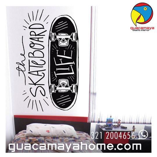 Sticker Vinilo Skaterboard