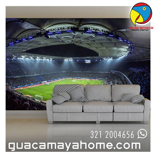 Foto mural estadio de fútbol
