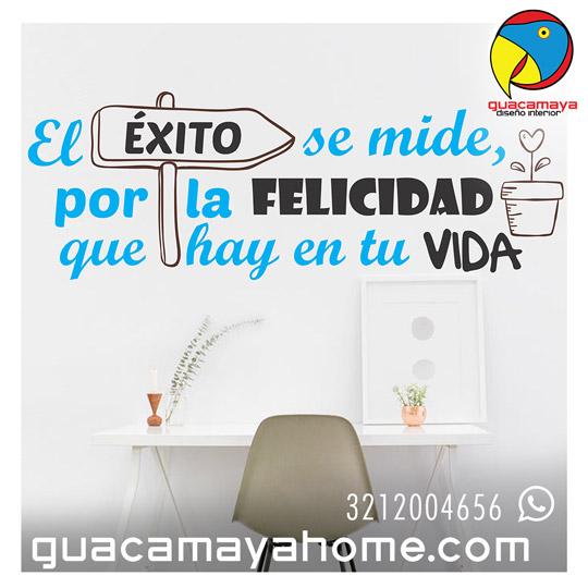 Sticker y Vinilos Exito Y felicidad