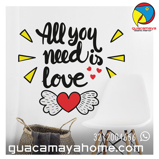 Stickers Vinilos frases de amor