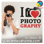 Sticker Vinilo decorativo I love Photo