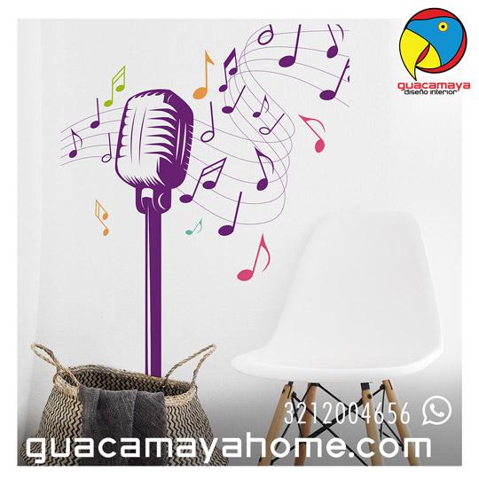 Sticker Vinilo Microfono
