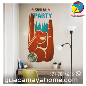 Sticker Vinilo Rock Party