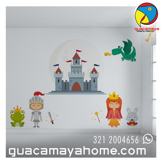 Vinilos Stickers Castillo Principes