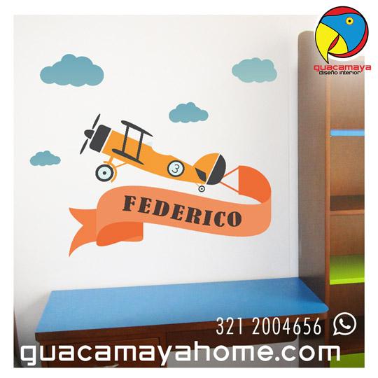 Sticker Vinilo Avioneta