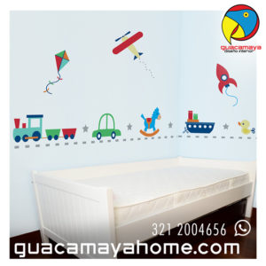 Sticker Vinilo Transporte Cute