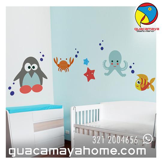 Vinilos Decorativos Stickers Animales Mar