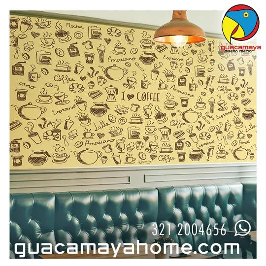 Stickers Vinilos Decoración café restaurante