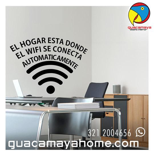 wi fi hogar guacamaya vinilos decorativos