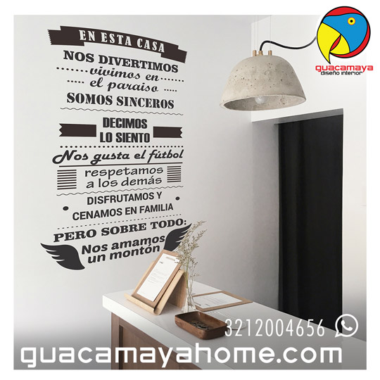 Stickers Vinilos Reglas de la Casa 04
