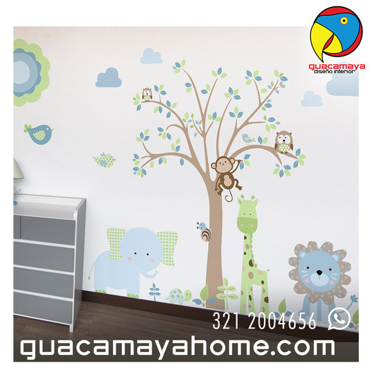 Sticker vinilo Selva Blue
