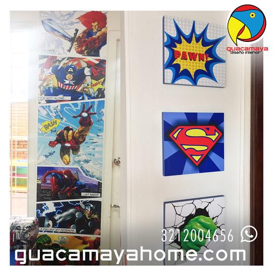 Stickers Vinilos Decoración Comics Superheroes