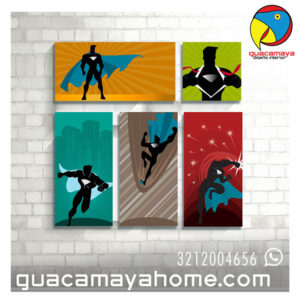 Decoración Super heroes cuadros