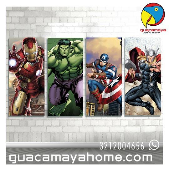 Cuadros vinilos Decoración Super heroes avengers